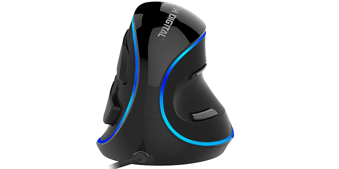 J-Tech Digital Wired Ergonomic Optical Mouse