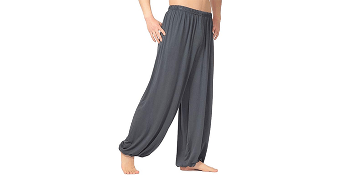 Men's Modal Spandex Yoga Pants by Hoerev