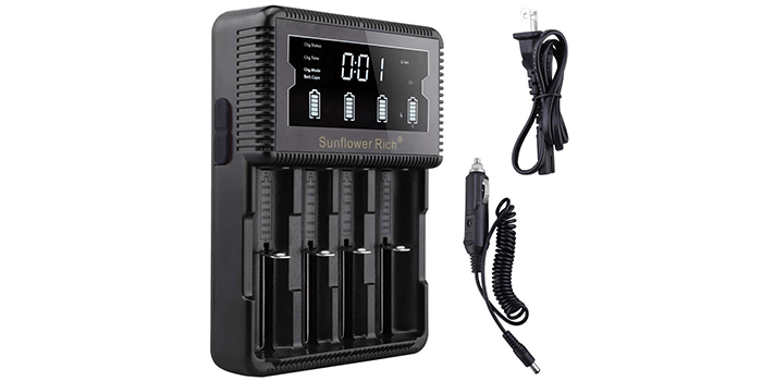Sunflower Rich LCD Display Universal Battery Charger