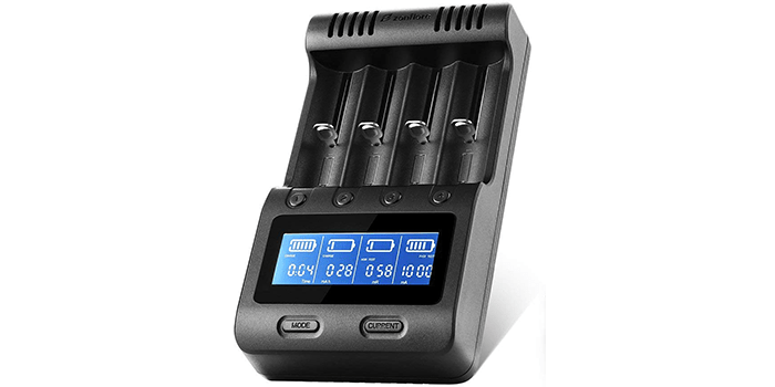 Zanflare C4 LCD Display Universal Battery Charger