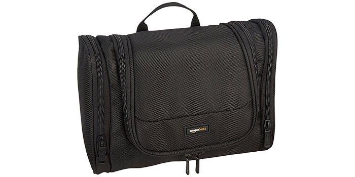 AmazonBasics Hanging Toiletry Bag (Black)