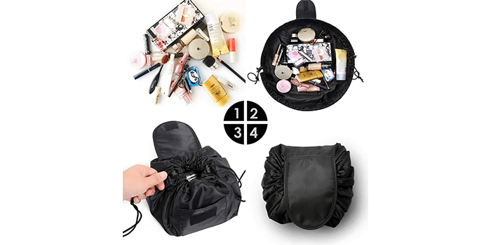 99703242c520  9 VOJUAN Fashion Cosmetic Portable Waterproof Quick Pack Travel Bag (Black)