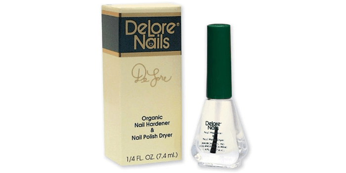 Delore for Nails Organic Nail Hardener and Polish Dryer