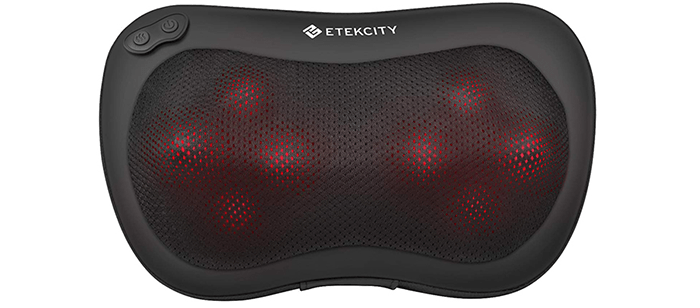 Etekcity 8 Heated Rollers Shiatsu Back Neck Massager