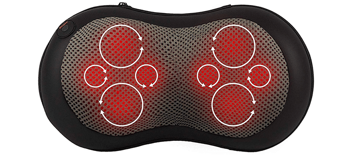 Gideon Shiatsu Deep Kneading Massage Pillow