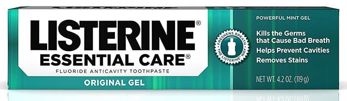 Listerine Essential Care Original Gel Fluoride Toothpaste