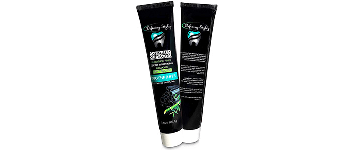 Organic Activated Charcoal Toothpaste With Bamboo
