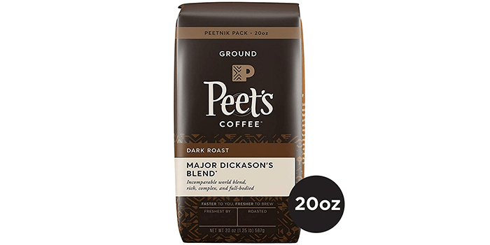 Peet's Coffee Peetnik Pack Major Dickason's Blend