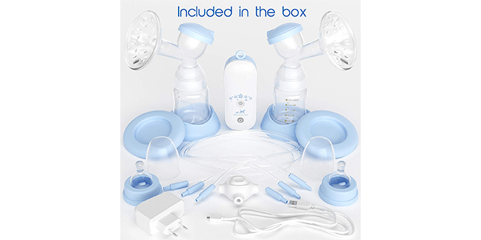 Portable Silicone Electric Double Breast Pump Kit