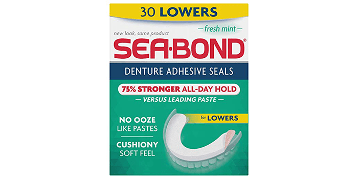 Sea Bond Secure Denture Adhesive Seals