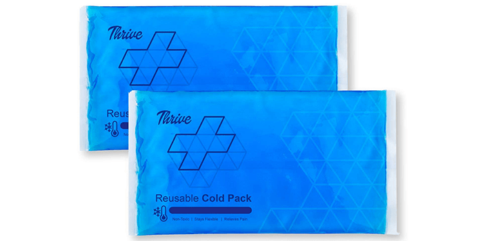 Thrive Reusable Crystal Blue Gel Ice Cold Pack Compress