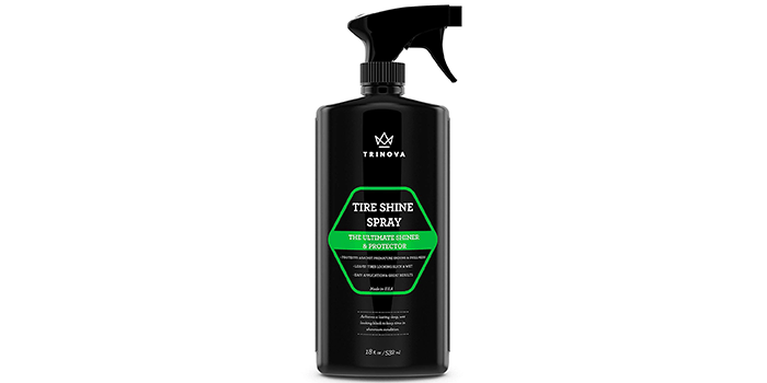 TriNova Tire Shine Spray - For Wet & Slick Finish