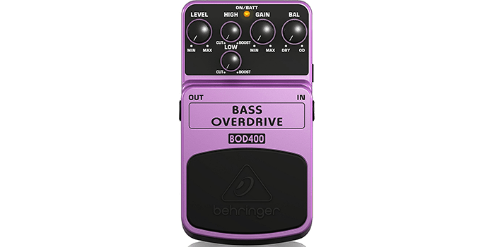 Behringer Bass Overdrive BOD400 Authentic Overdrive Effects Pedal