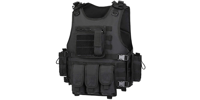 GZ XINXING Black Tactical Paintball Vest