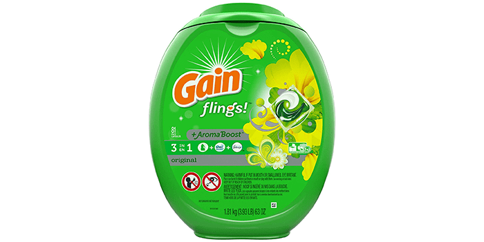 Gain Flings Aroma Boost Laundry Detergent