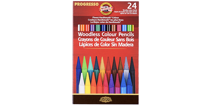 Koh-I-Noor Progresso Woodless Colored 24-Pencil Set