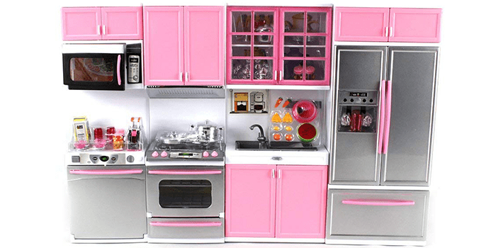 Modern Kitchen Battery Operated Toy Kitchen Playset