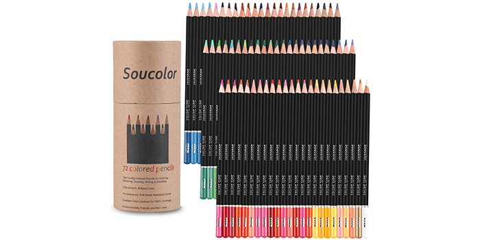 Soucolor 72-Color Colored Pencils