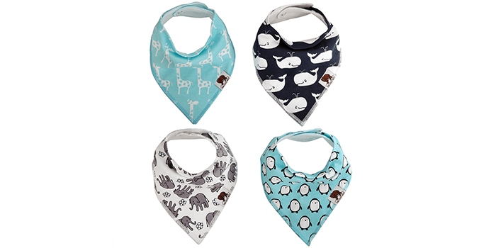 The Grizz Bizz Baby Organic Cotton Drool Bibs