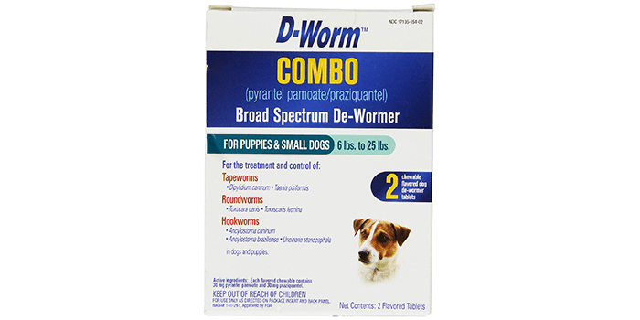 D-Worm 2 Count Combo Broad Spectrum De-Wormer