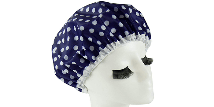 Eslite Waterproof Double Layers Shower Cap