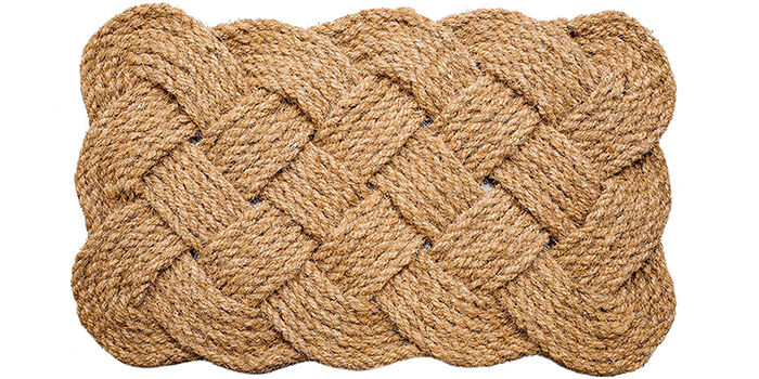 Iron Gate - Natural Jute Rope Woven Doormat