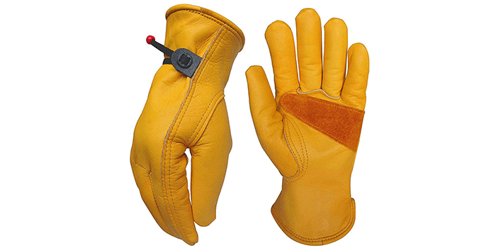 NuoWen Heavy-Duty Cowhide Work Gloves