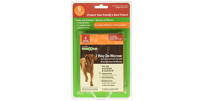 Sentry Worm X Plus 7 Way DeWormer Large Dogs