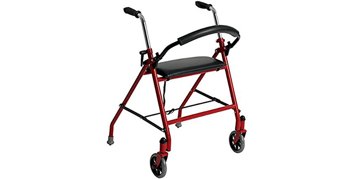 Drive Medical 1239RD Two Wheeled Walker