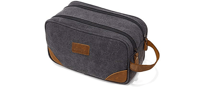 Kemy's Mens Canvas Toiletry Bag