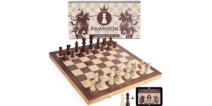 Pawnson Creations Wooden Chess Set
