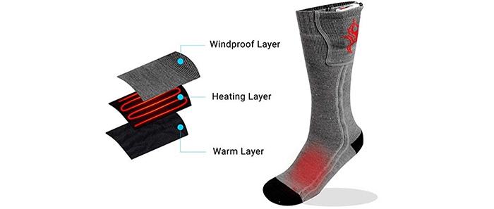 Thermogear Electric Heated Wool Socks