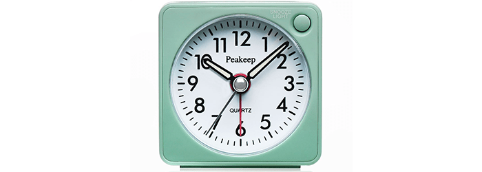 Peakeep Ultra Small Battery Travel Alarm Clock