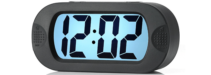Plumeet Large Digital LCD Travel Alarm Clock
