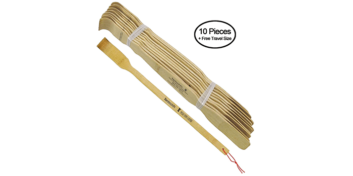 BambooMN Long Bamboo Backscratcher
