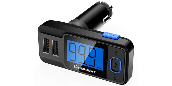 Perbeat Wireless In-Car Bluetooth FM Transmitter