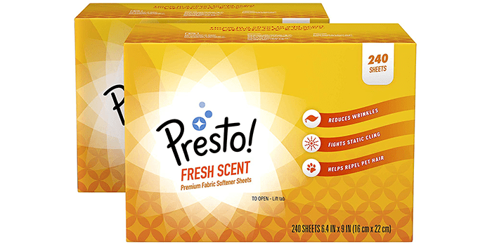 Presto Fabric Softener Sheets