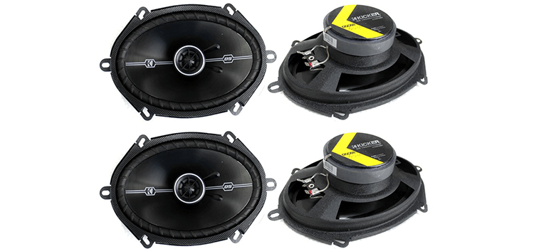 Kicker D-Series 400-Watt 2-Way Car Audio Coaxial Speakers