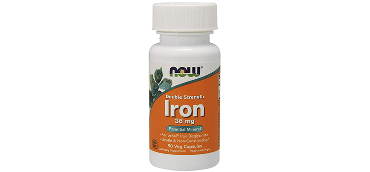 Now Foods Supplements Iron Bisglycinate Capsules