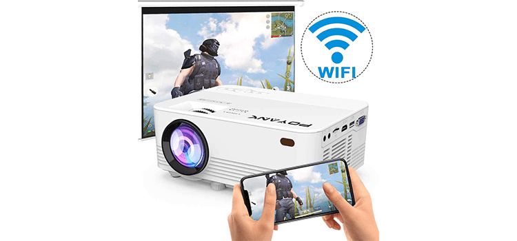 Poyank 2800 Lumens LED Wireless Mini Projector