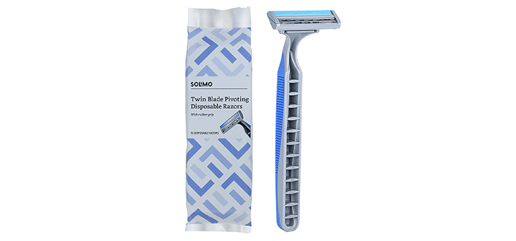 Solimo Twin Blade Pivoting Disposable Razor