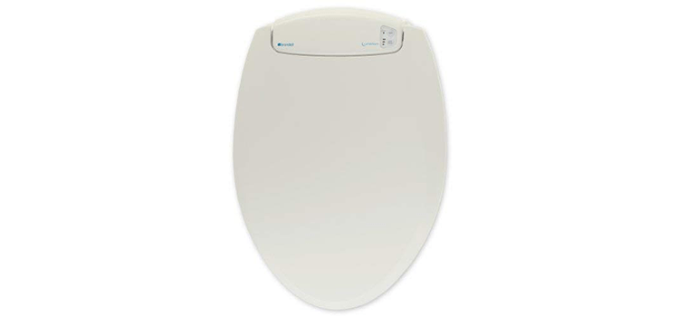 Brondell L60-EB LumaWarm Heated Nightlight Elongated Toilet Seat