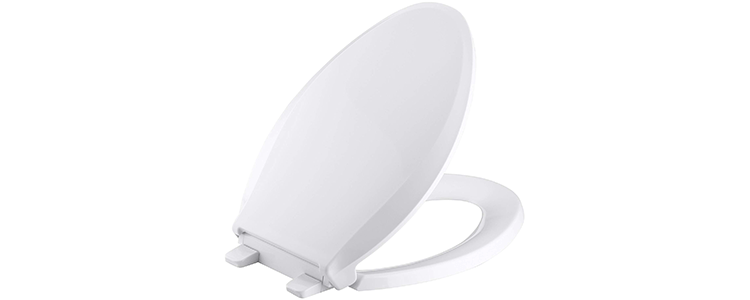 KOHLER K-4636-0 Cachet Elongated White Toilet Seat