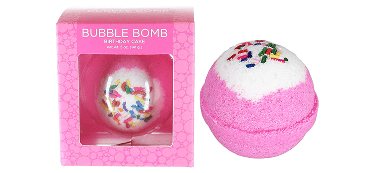 Two Sisters Spa Birthday Cake BUBBLE Bath Bomb