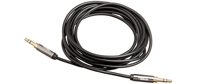 AmazonBasics 35mm Male to Male Stereo Audio AUX Cable