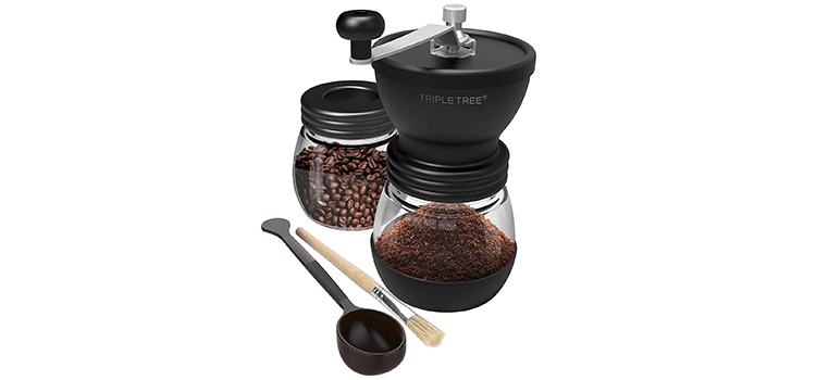 Triple Tree Manual Coffee Grinder with Ceramic Burrs