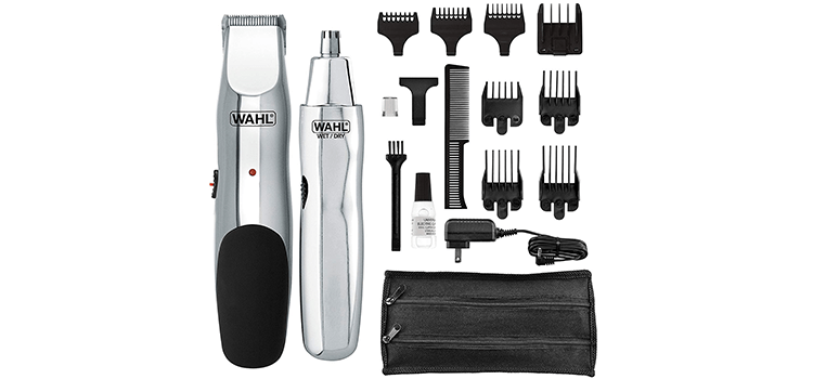 Wahl Groomsman Rechargeable Beard, Mustache, Nose Hair Trimmer