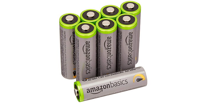 AmazonBasics AA High-Capacity Performance Rechargeable Batteries