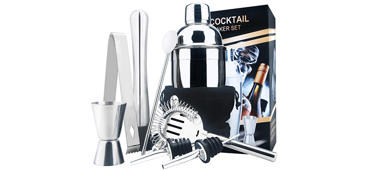 Appolab Stainless Steel Cocktail Shaker Bar Set