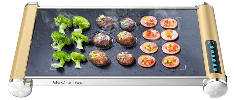 Elechomes Electric Grill Griddle with LED Touch Control